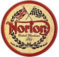 ★よりどり3点送料無料★アメリカン雑貨★看板★ Norton★ノートン・ラウンドロゴ★バイク系レトロ調