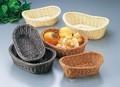【キッチン】【店舗備品】洗える樹脂バスケット・舟型篭【小/大//白/茶/こげ茶】