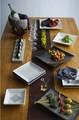 【自然と料理が引き立つデザイン】スクエアプレート(ホワイト)<日本製>[Erba]