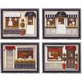 ミニ ゲル アートフレーム【低単価アート】パリ、お店、ショップ柄<樹脂フレーム>