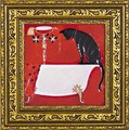ドミンゲス アートフレーム【おしゃれにゃんこアート】動物/アニマル柄<樹脂フレーム>