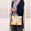 【モダンドット柄】ゴブラン織りバッグ メトロドット
