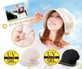 UVふんわり小顔帽子/UVカット率99%/紫外線対策