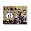 ★よりどり3点送料無料★アメリカン雑貨★看板★ルート66を走るバイク★アメリカのマザーロード★ROUTE66