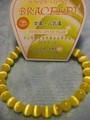 【天然石】感謝セール☆天然石☆8mm数珠ブレス シンセティックキャッツアイイエロー・パワーストーン天然石