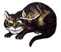 ◆英アソート対象商品◆【英国雑貨】Lark Rise Designs 時計 不思議の国のアリス チェシャ猫(LRC2)