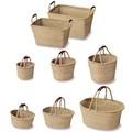 ラウンドバスケット/バスケット(Seagrass and Coconuts) -1050
