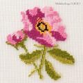 【刺繍シート】ピンクの花