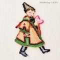 【刺繍シート】ハートと女の子