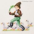 【刺繍シート】アヒルと男の子