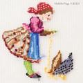 【刺繍シート】鳥と少女