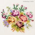 【刺繍シート】バラと小花のブーケ