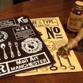 レザーステッカー ヴィクトリア Leather sticker 革テイストのプリントステッカー