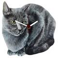 【英国雑貨】Lark Rise Designs 猫の壁掛け時計 Gray Cat(LRC16)
