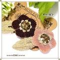 sale sale キラキラビジューとお花のスリーピン 2カラー