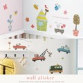 【手作り雑貨】wall sticker ウォールステッカー (S) 6種 デコ壁