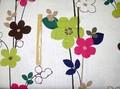 【メランジェ】花柄プリント生地<北欧柄>