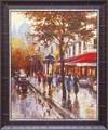 ブレント ヘイトン アートフレーム【フランスの街並み】フランス/街柄<樹脂フレーム>