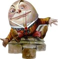 ◆英アソート対象商品◆【英国雑貨】Lark Rise Designs 時計 不思議の国のアリス Humpty Dumpty(LRC24)