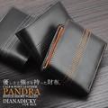 ☆DM-103☆ ダイアナ ディッキー パンドラ(PANDRA)  カーフ&ポニーレザー ステッチ折財布