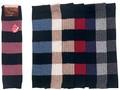 【秋冬】贅沢な天然素材の暖かさ ウール100% カシミヤ&ラム ひざ下丈レッグウォーマー ボーダー柄