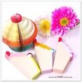★゜。☆・ かわいい〜ケーキののメモパッド 4カラー 。★・゜☆