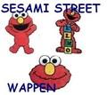 ワッペン エルモ*セサミストリート