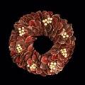 <<クリスマスリース>>★■X'mas/  Rim Leaf Wreath M(Red)