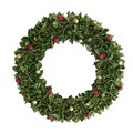 <<クリスマスリース>>★■X'mas/  Green Cotton Pod Wreath M