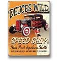 ★よりどり3点送料無料★アメリカン雑貨★看板★ホットロッド★Deuces Wild Speed Shop★レトロ調★