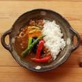 ■美濃焼陶器単品 ■風趣 モカドット手付カレー皿