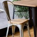 【新商品】MS856A ガーデニングチェア ダイニングチェア シルバー デザイナーズ家具