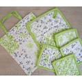 [キッチン雑貨]フラワープリント コースター&キッチンパッド〕新緑なデザイン