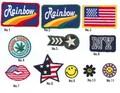 【探索!!バラエティ雑貨】アメリカンな刺繍ワッペン【アップリケ・ワッペン】