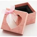 【販促パッケージ・タグ】ペーパーウェイトケース ピンク ハート窓 (10個セット) 天然石