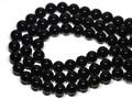 【天然石丸ビーズ】天然チベット産黒水晶(モリオン) 14mm【天然石 パワーストーン】