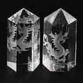 【天然石彫刻置物】水晶彫刻ポイント 青龍 20×45mm【天然石 パワーストーン】