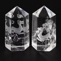 【天然石彫刻置物】水晶彫刻ポイント 白虎 20×45mm【天然石 パワーストーン】