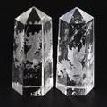 【天然石彫刻置物】水晶彫刻ポイント 五爪龍 20×45mm (素彫り)【天然石 パワーストーン】