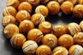 【天然石丸ビーズ】ゴールデンマザーオブパール (馬蹄貝) 14mm【天然石 パワーストーン】