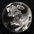【天然石彫刻ビーズ】水晶 16mm (素彫り) ヤアズ【天然石 パワーストーン】