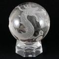 【天然石彫刻置物】丸玉 水晶20mm (素彫り) 五爪龍【天然石 パワーストーン】