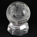 【天然石彫刻置物】丸玉 水晶30mm (素彫り) 朱雀【天然石 パワーストーン】