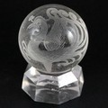 【天然石彫刻置物】丸玉 水晶50mm (素彫り) 朱雀【天然石 パワーストーン】