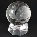 【天然石彫刻置物】丸玉 水晶50mm (素彫り) 玄武【天然石 パワーストーン】