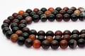 【天然石丸ビーズ】ブラックサードオニキス (チベット産) 12mm【天然石 パワーストーン】