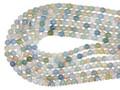 【天然石丸ビーズ】マルチベリル (アクアマリンマルチカラー)(2A) 6mm【天然石 パワーストーン】
