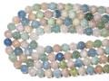 【天然石丸ビーズ】マルチベリル (アクアマリンマルチカラー)(2A) 10mm【天然石 パワーストーン】