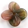 【天然石モチーフビーズ】四枚花 インディアンアゲート【天然石 パワーストーン】