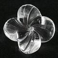【天然石モチーフビーズ】四枚花 水晶【天然石 パワーストーン】
